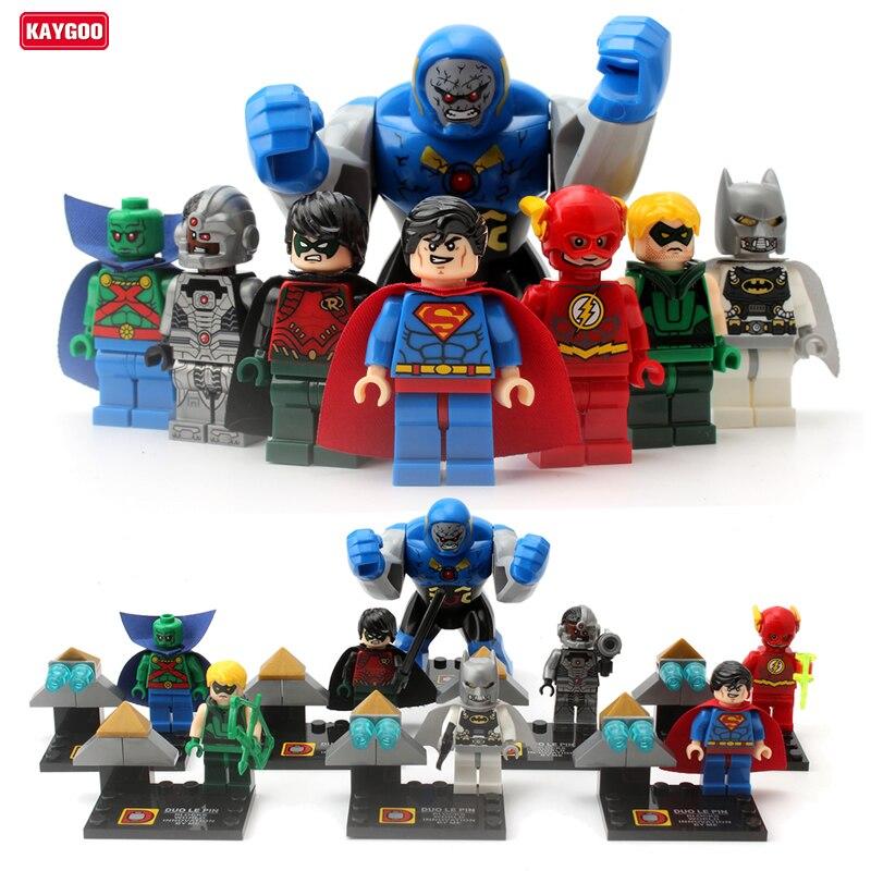 Kaygoo9014 Super Hero Darkseid Martian Manhunte Cyborg Robin Flashman figure Building Block Toys Bricks sets