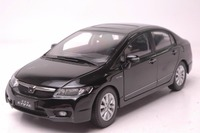 1:18 Diecast Model for Honda Civic 8 2009 Black Alloy Toy Car Miniature Collection Gifts MK8