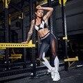 Европа 2016 новых леди повседневная спортивная брюки шить два костюм черный и белый марли шить спортивные Леггинсы спортивные Костюм