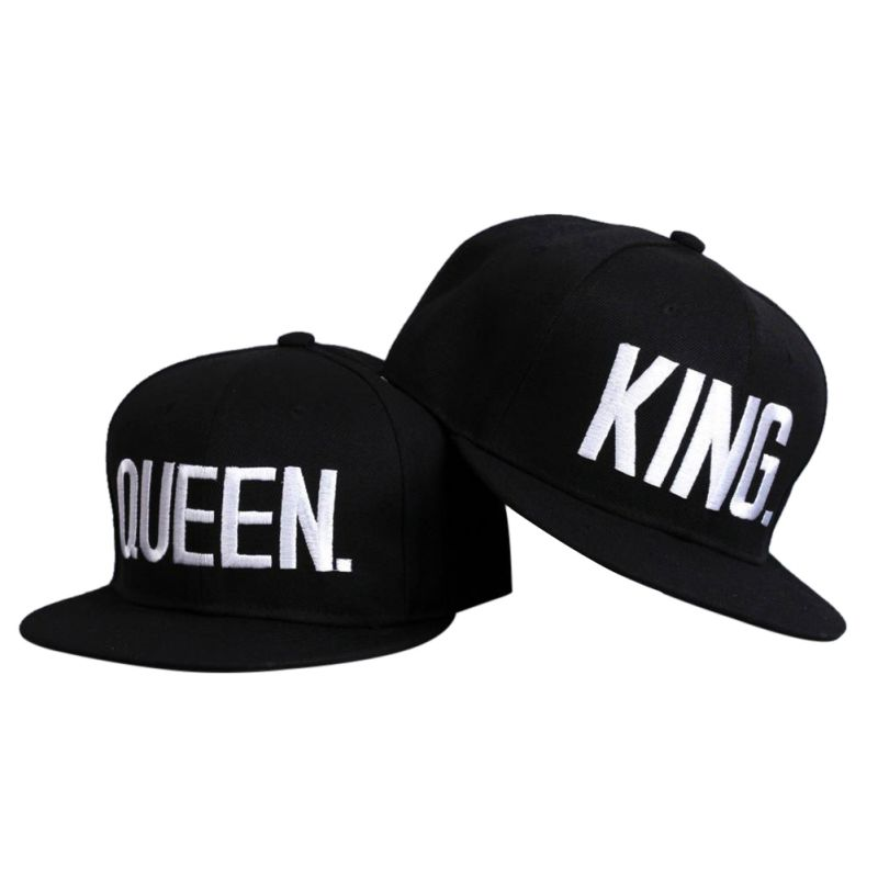 KING QUEEN Snapback Acrylic Couple Baseball Hats Fashion Summer Embroidery Lovers Hip-hop Caps