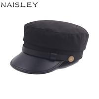 NAISLEY Men Hat 2017 Military Hat Winter Cap Unisex Flat Cotton Outdoor Sport Fashion Style Hats