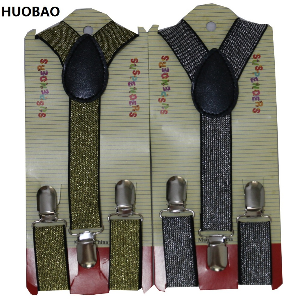 HUOBAO 2017 New Cute Kids Toddle Clip On Adjustable Bright color Braces Suspenders For Boys Girls