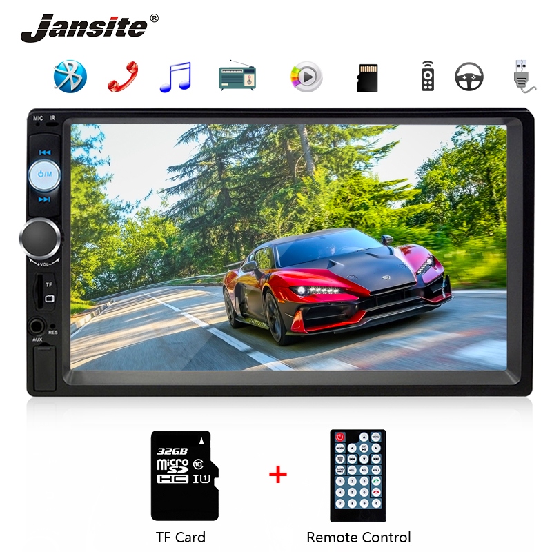 Jansite 7 inch Car Radio DVD MP5 player Digital Touch screen Multimedia player mirror 2 din