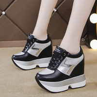 Rimocy autumn Color Collision Vulcanized Shoes Women Thick Bottom Height Increasing Shoes Woman Platform Zapatos Leopardo Mujer