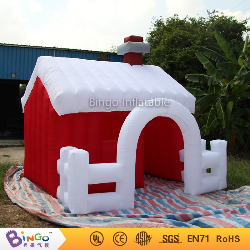 Bingo 3x3m inflatable christmas house inflatable santa claus cartoon customized for christmas party decoration festival toy customized chrismas house inflatable christmas decoration 3 3m