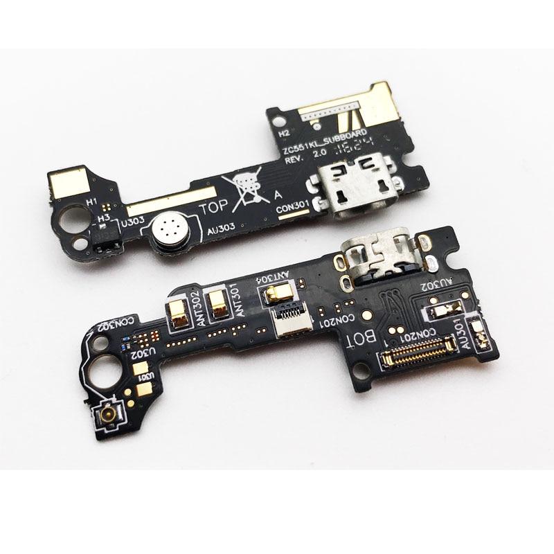 Nouveau Pour Asus Zenfone 3 Laser ZC551KL USB Charging Dock Port Contector Flex Ruban Câble Avec Micro Microphone Conseil