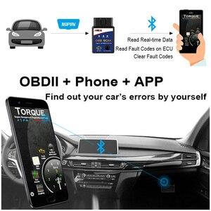 Image 3 - ELM327 Bluetooth OBD2 Scanner Automotive Scanner Auto OBD 2 Diagnose Werkzeug ELM327 Fehler Code Reader OBDII ELM327 Adapter