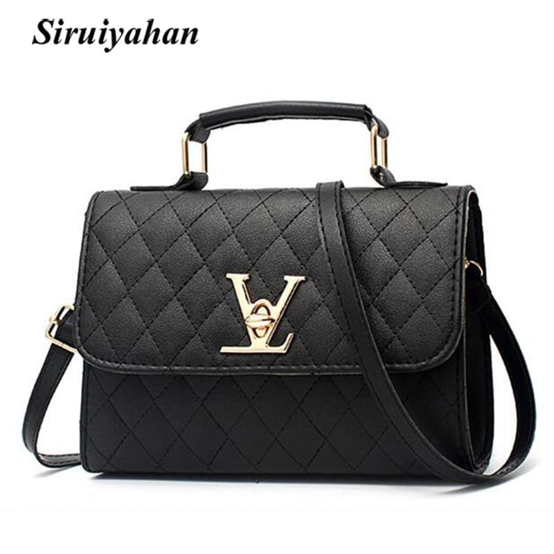 Leather Women Shoulder Bag 3 Layers Pocket Clutch Messenger Bag Lady Tote Purse