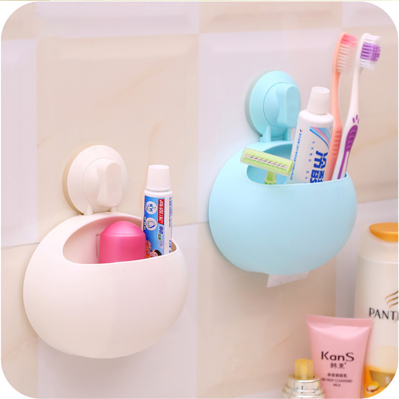 10*8cm Organizer Sucker Cup Toothbrush Leak Water Holder Bathroom Kitchen Tool Family Toothbrush Wall Stand Suction Holder