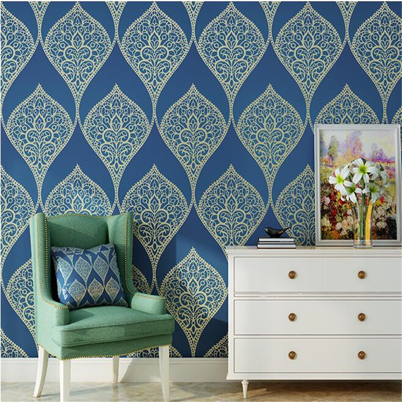 Beibehang papel de parede European luxury embossed non-woven wallpaper wallpaper bedroom living room 3D flower TV wall papel de parede european luxury diamond crystal 3d wallpaper 3d flocking non woven wallpaper wallpaper living room tv