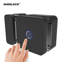 Sherlock F1 Integrated Keyless Fingerprint Lock With Bluetooth APP Remote Control For Home Office Glass Door Electric Smart Lock