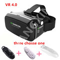 """HOT  Virtual Reality Smartphone VR 3D Glasses  VR 4.0 3D glass  VR BOX head-mounted 3 d video glasses 3.5 """"6.0"""" smart phones"""