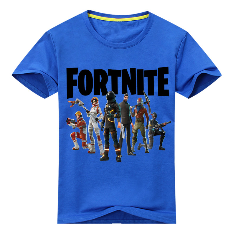 Children Game Fortnite Print T-shirt Clothing Boy Summer Short Sleeve Tee Tops Costume Girl T Shirt Kids Tshirts Clothes DX062 new hot sale 2016 korean style boy autumn and spring baby boy short sleeve t shirt children fashion tees t shirt ages