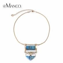 eManco de tendencias de la vendimia geométrica Gargantilla Cadena Collares Mujeres turquesa Piedras naturales Azul Accesorios de la joyería (China (Mainland))
