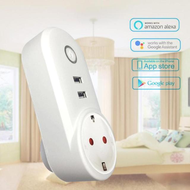 QIACHIP Smart Home Charging Adapter Wireless Smart Switch WIFI ...