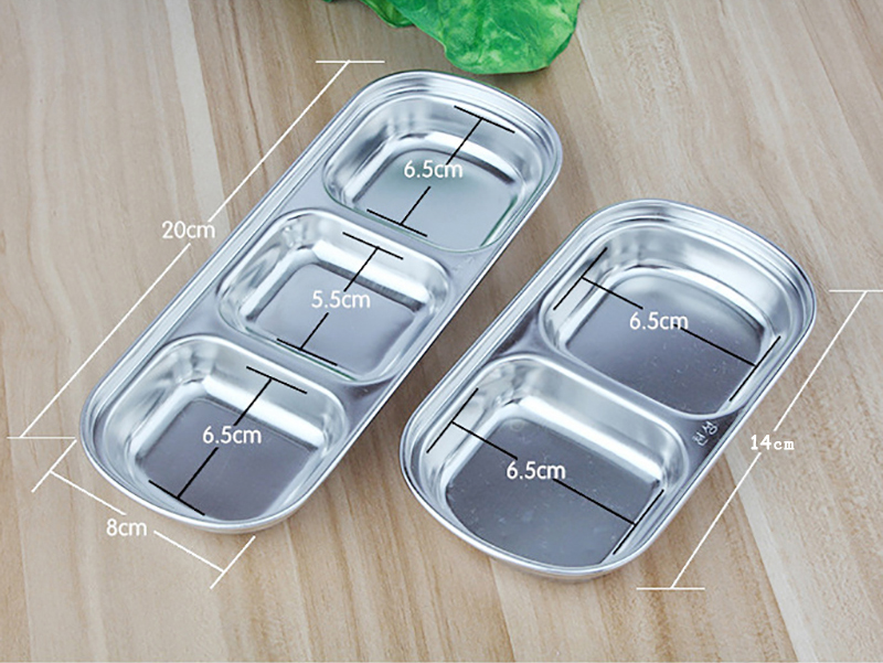 Home & Garden Plates Stainless Seasoning Plate Side Sauce Saucer ...