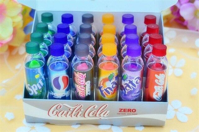 24pcs/lot beauty Change Color Cola Lipstick sweet cute Moisturizer Faint scent Lip Balm Lipstick Brand Makeup Lip Smacker 1