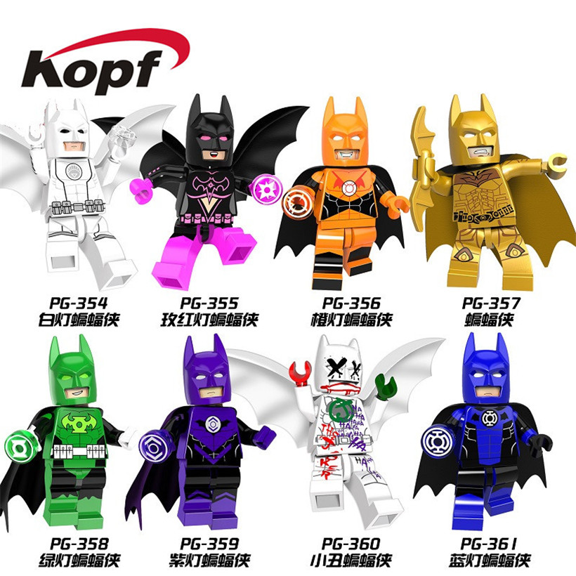 Single Sale Joker Clan of the Cave White Red lantern Batman Building Blocks Super Heroes Model Bricks Children Gift Toys PG8078 single sale super heroes stitch batman spiderman iron man deadpool duck bricks action building blocks children gift toys da009