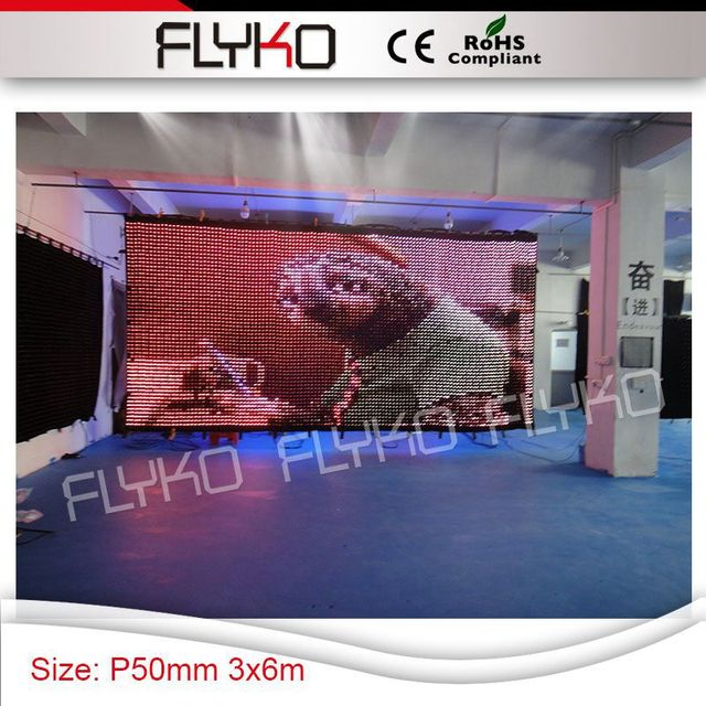 US $6772 0 | 3in1 rainbow color led lights display high clear definition  P5cm led video curtain new design 3x6m screen -in Stage Lighting Effect  from
