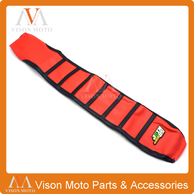 Pro Ribbed Red Gripper Soft Seat Cover For Honda CRF250R 10-13 CRF450R 2009-2012 Enduro Dirt Pit Bike Motorcycle