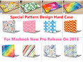"Creative Pattern Ноутбук Тела Shell Защитный Футляр для Macbook Нью Pro 13 ""Retina 15"" w/без Сенсорного Бар Релиз на 2016"