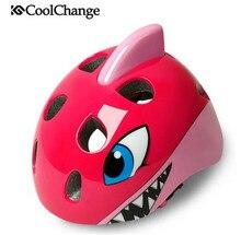 цена на CoolChange MTB Road Bike Helmet Bicycle Helmets Child Cartoon Safety Kids Pulley Breathable PC EPS Cycling Helmet Casco Ciclismo