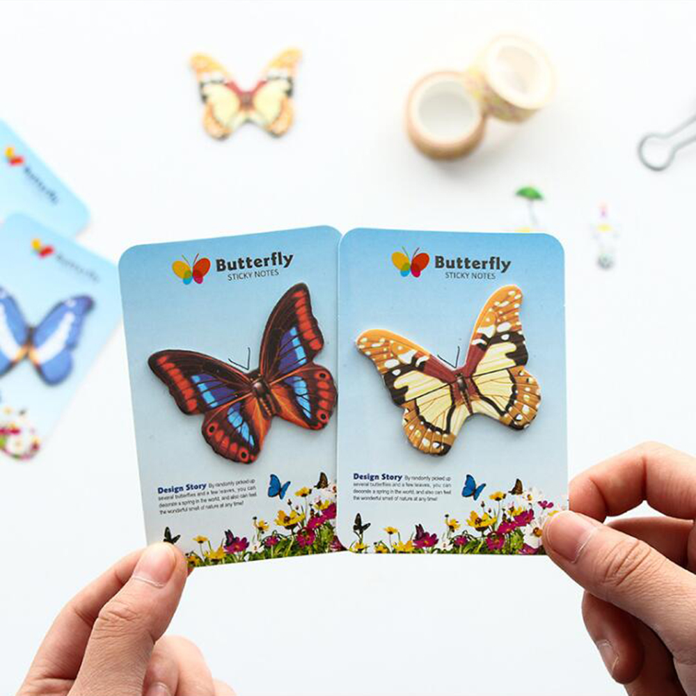 Beautiful Butterfly Post it Memo Pads Creative 10 Pieces/lot Decoration Sticky Notes Office School Stationery Cute Paper Notepad