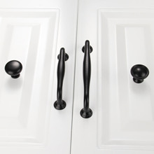 1Pc Furniture Knobs Black Kitchen Door Handles Cupboard Wardrobe Drawer Pull Handle Cabinet Knobs and Handles Furniture Hardware