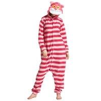 L G Yeni Varış Kış Unisex Hayvan Onesie Pijama Cosplay Kostüm Hayvan Pijama Yetişkin Pijama Cheshire Cat Onesie Pijama