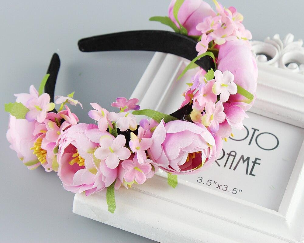 Hair Accessories Women s headband Bohemian big Floral flower crown for Party Wedding Hair Wreaths Hair