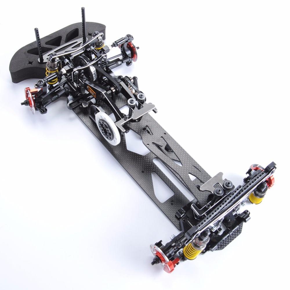 1 10 Scale Black Car Frame Kit G4 Alloy Carbon Fiber Drift Frame