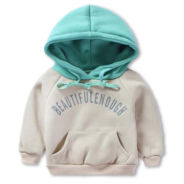 новые дети детские мальчик толстовки зима одежда для мальчиков длинные рукава шерсть теплой кофте детей хлопковые рубашки девочек в капюшоне, 2 - 5 лет одежду зимой, весной,
