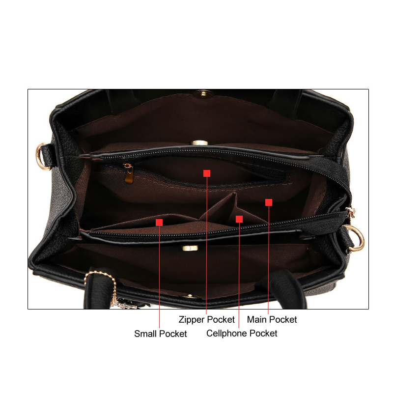 a719aa894c3 Latest Fashion hand Bags Korean Style black Luxury PU Leather Women  Handbags Female Tote Bags Summer Women's Pounch 10 color -in Top-Handle Bags  from ...