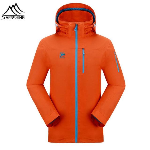 SAENSHING Plus size outdoor jacket men original new brand Waterproof Windproof men's jacket camping hiking climbing sport coat