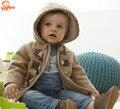 Bebé Chaqueta de Los Muchachos 2016 Nueva Ropa de Invierno Giyim Bebek Prendas de Abrigo Chaquetas de Algodón Para Bebés Ropa para Niños Con Capucha