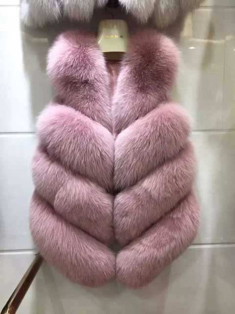 Новые Высокого Класса Реального Лисицы Толщиной Пальто Мода Осень Зима женщины Лисий Мех Рукавов Куртки Тонкий Короткий Мех Жилет Пальто XZL117