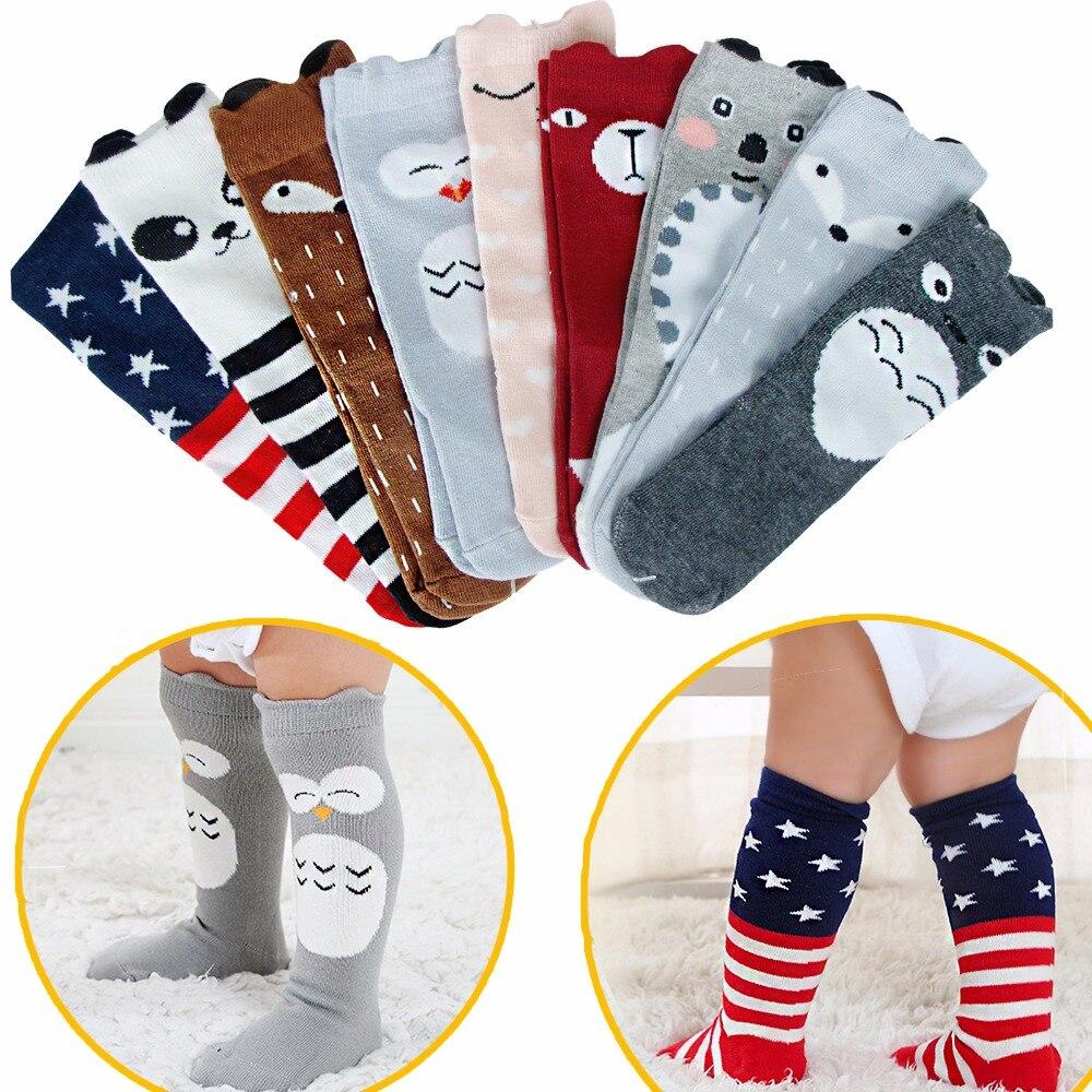 1 Paar Baumwolle Socke Herbst Winter Kleidung Kleinkind Infant Kniehohe Lange Socken Für Baby Niedlichen Tier Kinder 0- 3 Y Rabatte Verkauf