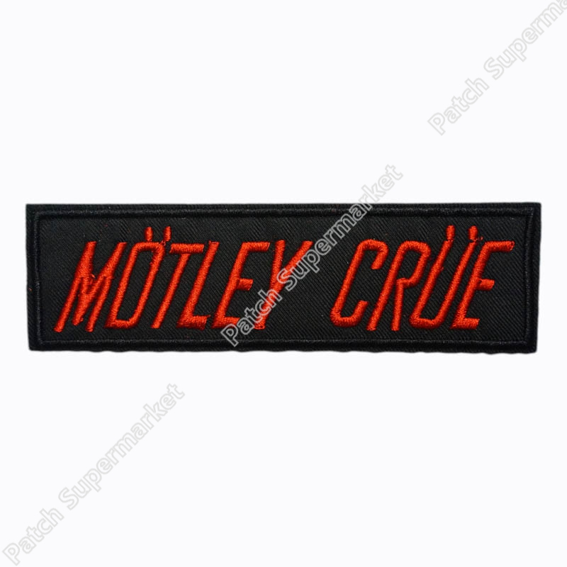 "5"" MOTLEY CRUE EMBROIDERED PATCH HEAVY METAL AC/DC CINDERELLA POISON Music Band Iron On Chest Large biker MOTIF Rock Punk"