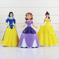 3 Styles Cute Princess Toys Elsa Anna Snow White Sofia Belle PVC Action Figures Model Toys Piggy Bank 26cm Kunai Pet