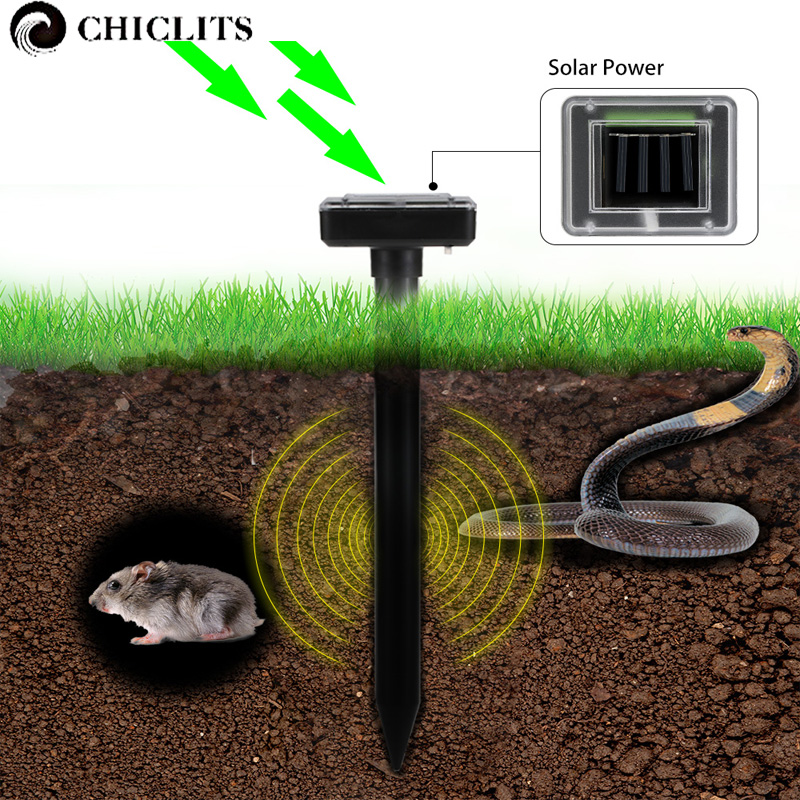 2Pcs Solar Powered Sound Wave Sonic Repeller Outdoor Garden Solar Lights Yard Farm Mouse Gopher Snake Rodent Repeller Solar Lamp цены