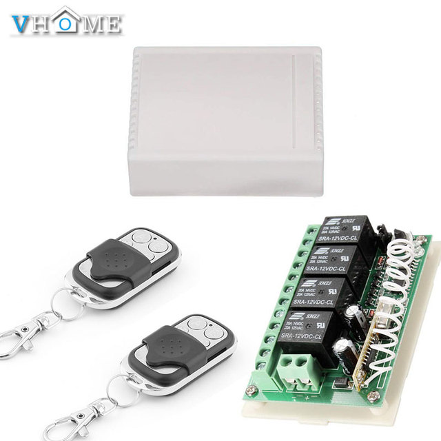 US $6 15 29% OFF|Vhome 433Mhz Wireless RF Switch Long Range DC 12V 4CH  Channel Wireless Remote Control Switch, Relay Receiver Transmitter  Module-in