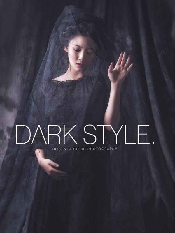 Черна рокля с дълги дантела без - Бременност и майчинство - Снимка 6