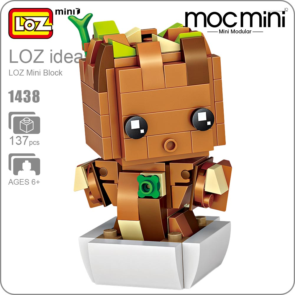 LOZ Building Blocks Baby Tree Figure Mini Block Hero Toys Hobbies Superhero Action Figures Figurine Plastic Assembly Toys 1438 loz mini diamond block world famous architecture financial center swfc shangha china city nanoblock model brick educational toys