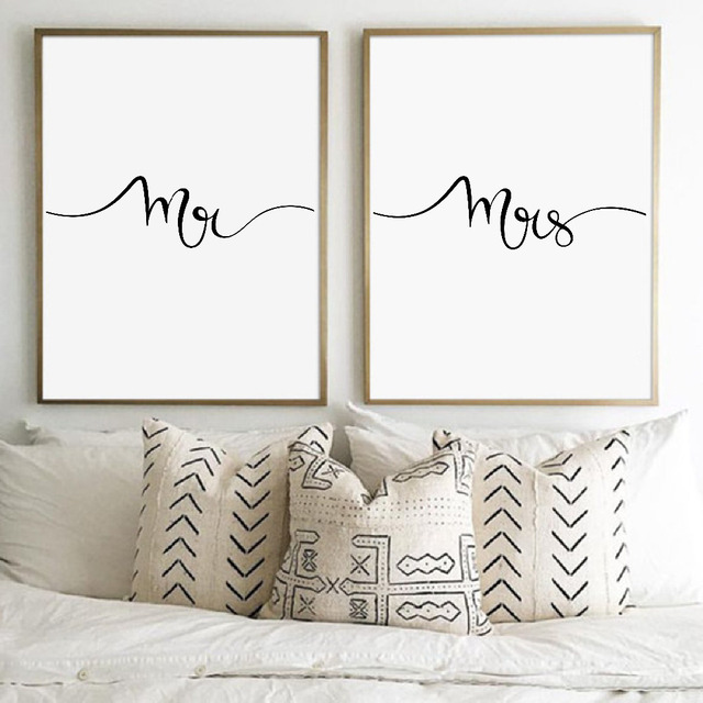 Mr and Mrs Print Wall Art Canvas Painting , Gifts for Newlyweds ...