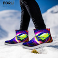 FORUDESIGNS Fashion Punk 3D Snow Boots for Men Male Winter Shoes Anti-slip Short Shoes for Teenager Men's Warm Ankle Chaussure