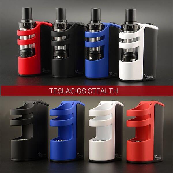 100% D'origine Teslacigs Tesla Furtif kit 100 w avec LiPo batterie 2200 mAh teslacigs Ombre Réservoir robuste réglable flux d'air vapeur