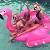 Giant Inflatable Flamingo Pool Float Swimming Tube Ride On Flamingo Lifebuoy Sea Mattress Water Toys Holiday Beach Party Piscina