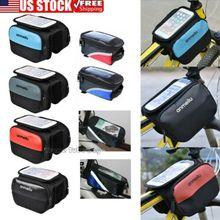 "цена на Waterproof Touch Screen Bike Bicycle Handlebar Bag Holder Pouch 6"" Cell Phone"