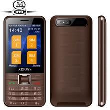 "Quad Sim carte Russe clavier téléphone mobile D'origine SERVO V8100 Quad veille 2.8 ""quadri-Bande GPRS Sans Fil FM WhatsApp Facebook"