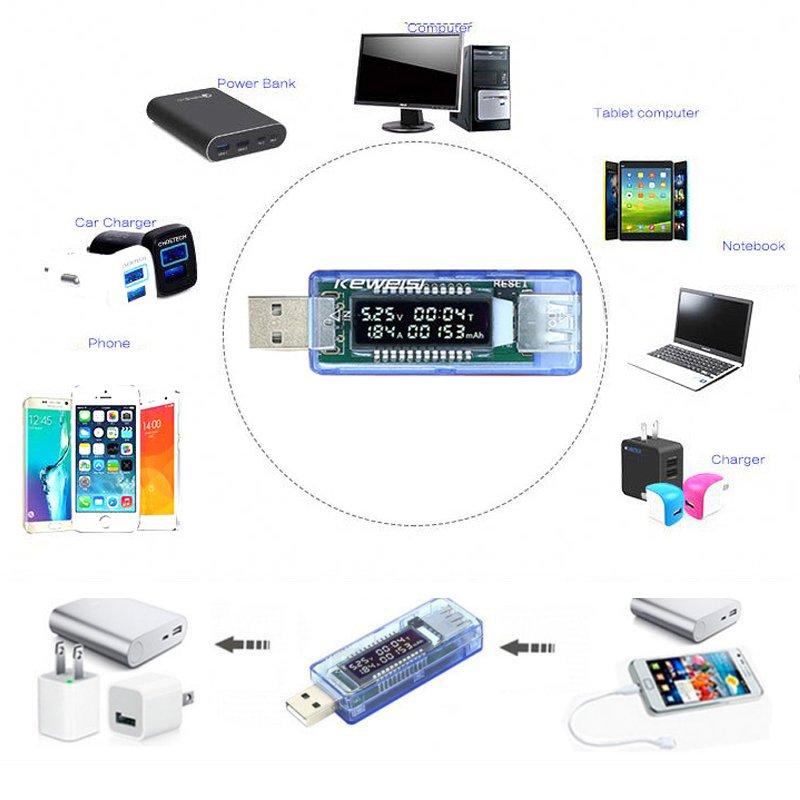 3 in 1 akumuliatoriaus testeris Įtampos srovės detektorius Mobilus - Matavimo prietaisai - Nuotrauka 6